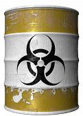 Barrel With A Symbol Of Bio Hazard