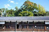 Kyoto, Japón - 27 de Oct: Castillo de Nijo, es un castillo de Flatland ubicado en Kyoto, Japón.