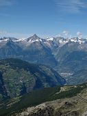 View Of Visp And The Bietschhorn