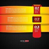 Option Banner auf dunklem Hintergrund mit roten Etikett überqueren Sie
