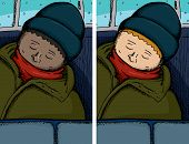 Person Asleep On Bus