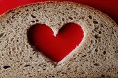 Valentine Heart From Loaf Of Bread