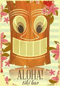 Jahrgang hawaiian Tiki-Postkarte
