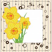 Bouquet Of Daffodils, Greeting Card