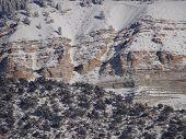 Detail, Mountain Peak In Winter,