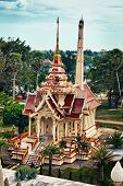 image of crematory  - Ancient buddist crematory in Wat Chalong - JPG
