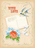 Vintage Scrapbook Element Retro Card Love Design