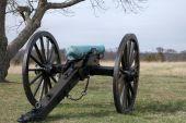 stock photo of rebs  - Cannon in position on Civil War Battlefields in Virginia - JPG