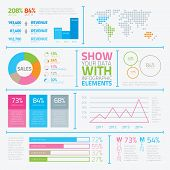 Infographic flat modern elements vector eps10