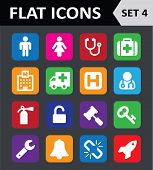 Universal Colorful Flat Icons. Set 4.