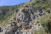 Lycian Rock Tombs, Myra, Turkey