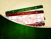Christmas Airline Boarding Pass Tickets In Pocket
