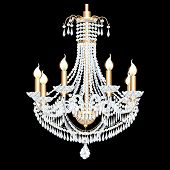 Of A Crystal Chandelier Antique With Pendants