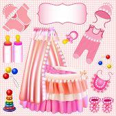Pink Set Of Children's Cradle Beanbag Booties Sliders