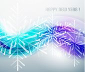 Blue business wave and Christmas snowflakes background