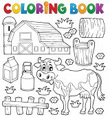 Coloring book cow theme 1 - eps10 vector illustration.