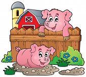 Pig theme image 4 - eps10 vector illustration.