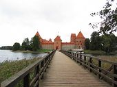 Trakai castle in Lithuania, Vilnius, one of the most popular touristic destinations in Lithuania. poster