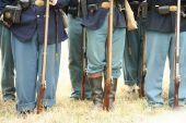 Union Civil War Soilders, Muskets, Belt Buckles