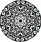 Abstract Vector Ornament in Tribal Style