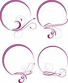 decorative oval frames for design in vintage styled