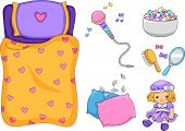 foto of pillow-fight  - Illustration of Ready to Print Slumber Party - JPG