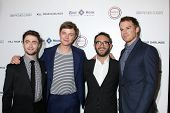 LOS ANGELES - OCT 3:  Daniel Radcliffe, Dane DeHaan, John Krokidas, Michael C. Hall at the