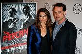 NEW YORK-OCT 4: Actors Keri Russell (L) and Matthew Rhys attend 'The Americans' during 2013 PaleyFes