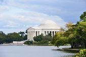 Thomas Jefferson Memorial in Autumn, Washington DC - United States