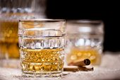 Whiskey, Vintage Style With Cigar