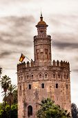 Torre Del Oro Old Moorish Watchtower Seville Andalusia Spain