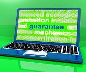 Guarantee Laptop Means Secure Guaranteed Or Assured.