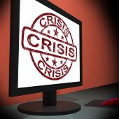 Crisis Monitor Means Urgency Trouble Or Critical Situation