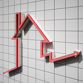 House Icon Showing House Price Going Up