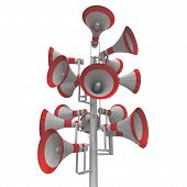 Audio Equipment Outdoors Shows Loudhailers Loud Hailers Or Announcement