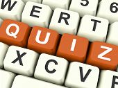 Quiz Keys Show Test Or Questions And Answers.