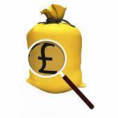 Pounds Sack Shows British Money Gbp Or Savings