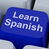 Learn Spanish Key Shows Studying Language Online