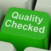 Quality Checked Key Shows Product Tested Ok