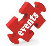 Постер, плакат: Events Puzzle Means Concerts Occasions Events Or Functions