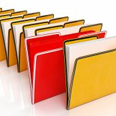 Folders Showing Organising Documents Filing And Reports