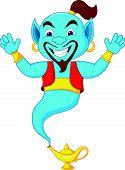 Friendly genie cartoon