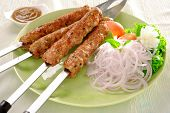 stock photo of kababs  - A delicious - JPG
