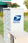 Sacramento, Usa - September 23: Usps Street Box On September 23, 2013 In Sacramento, California.