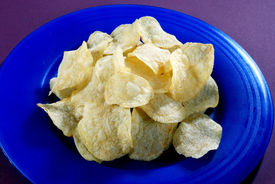 foto of doritos  - Fresh and salty potato crinkle chips in plate - JPG
