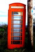 Caja del teléfono rojo