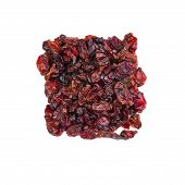 image of barberry  - Dried barberry berries isolated on white background - JPG