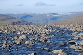 stock photo of taimyr  - Rocky landscape on the Putorana plateau - JPG