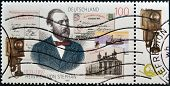 GERMANY- CIRCA 1997: stamp printed in Germany shows Heinrich von Stephan circa 1997