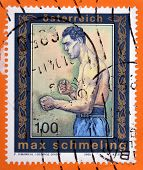 AUSTRIA - CIRCA 2005: A stamp printed in Austria shows Max Schmeling
